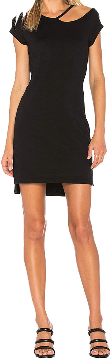 Pam & Gela Womens Off The Shoulder Cut Out TShirt Dress
