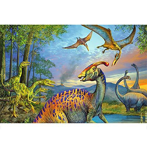 HYDD Dinosaurs Puzzle in Legno,Multicolore,1000 Pezzi Puzzle da Adulti,età Consigliata 14 +,Multicolore,75.5 * 50.5cm.