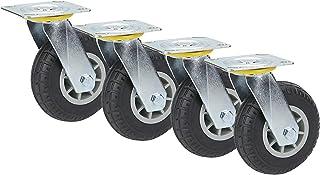 YJJT Rubber wielen, Swivel Caster wielen, Flatbed Truck Replacement Casters, Met dubbele remmen en dubbele lagers, Lading ...