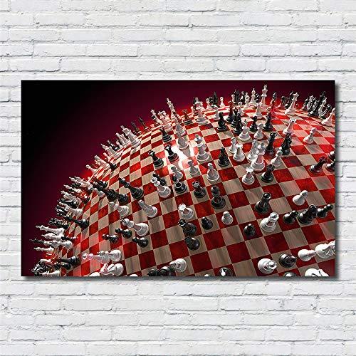 Weitwinkel Creative International Schach Malerei Cartoon Kinderzimmer Kinderzimmer Qualität Wohnkultur lebende Poster Leinwand Malerei 50 * 90cm