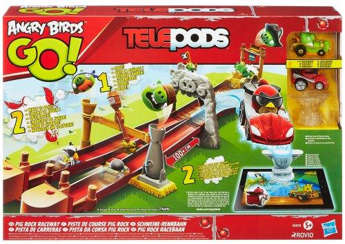 Angry Birds Go! – Telepods – A6030 – Piste de Course Pig Rock – Décor + 2 Karts