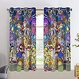Super Mario cortinas de eficiencia energética Mario 3 décadas de jefes cortina armario para adolescentes