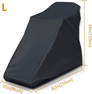 Non-Folding Treadmill Cover Waterproof - 2019 Upgraded Running Machine Protective Cover Dustproof Cover Heavy Duty and Water-Resistant Fitness Equipment Fabric Ideal for Indoor or Outdoor(Black)
