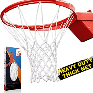 Premium Quality Professional Heavy Duty Basketball Net Replacement - All Weather Anti Whip, Fits Standard Indoor or Outdoor 12 Loops Rims12 Loops