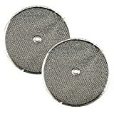 2-Pack Air Filter Factory 9-1/2 Round x 3/32 With Center Hole Range Hood Aluminum Grease Filters