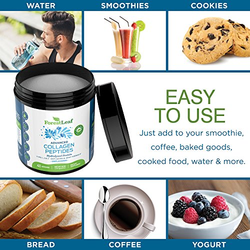 61gpG0VFVUL - Advanced Hydrolyzed Collagen Peptides - Unflavored Protein Powder - Mixes Into Drinks and Food - Pasture Raised, Grass Fed - for Paleo and Keto; Joints and Bones - 41 Servings Collegen