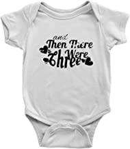 and Then There were Three Onesie Cute New Family Member Baby Bodysuit (White, 6M)