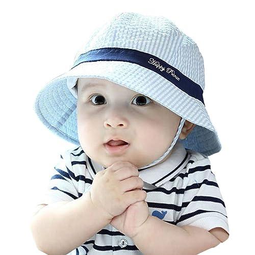 Weixinbuy Kids Sunhats Caps Baby Girls Boys Beach Bucket Sun Protection Hat