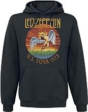 U.s. Tour 1975 Rock Led Zeppelin Men Hoodies Sweatshirts Pullover Cool Hoodies Black