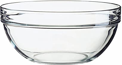 Luminarc 6 Piece Stackable Bowls Set with White Lids, 7.75
