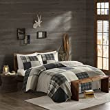 Woolrich 100% Cotton Quilt Reversible Plaid Cabin Lifestyle Design All Season, Breathable Coverlet Bedspread Bedding Set, Matching Shams, King/Cal King(110'x96'), Winter Hills, Tan, 3 Piece
