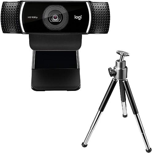 Webcam Full HD Logitech C922 Pro Stream com Microfone para Gravações em Video 1080p e Tripé Incluso, Compatível com L...