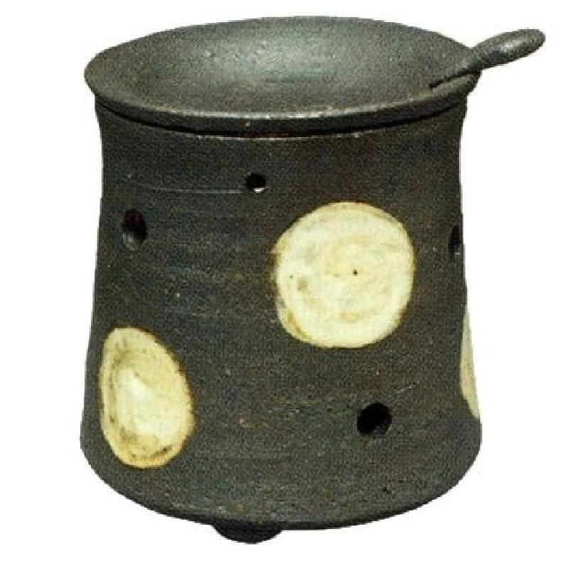 脱獄哺乳類判読できない常滑焼?焜清 カ39-08 茶香炉 ドット 径9.5×9.5cm