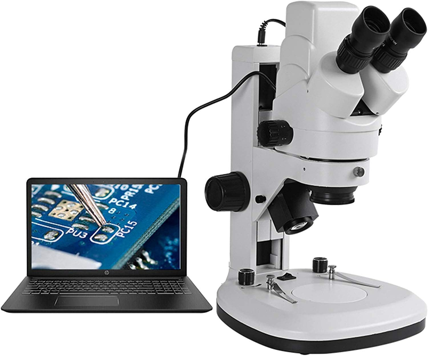 Magnification : 3.5X 90X Microscopes Microscope,Built-in Camera Electronic Eyepiece USB Zoom 3.5 90X Binocular HD Stereo Microscope Up//down LED Light for School Laboratory,Home Science Education