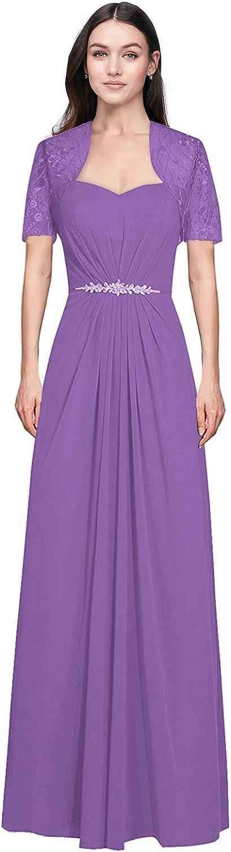 Judy Ellen Women Strapless Floor Length Evening Dress Formal Gowns with Jacket J095LF
