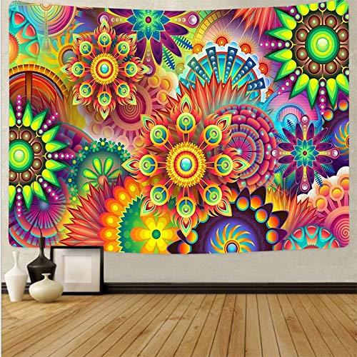Arte psicodélico tela colgante decoración del hogar tapiz dormitorio dormitorio revestimiento de paredes tela de fondo abstracto a20 73x95 cm