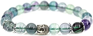 Gem Semi Precious Gemstone 8mm Round Beads Stretch Bracelet 7