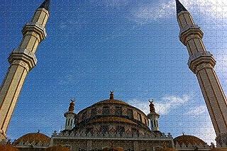 باكو أذربيجان اللغز للكبار 1000 قطعة خشبية هدية السفر تذكارية- Pt-05657