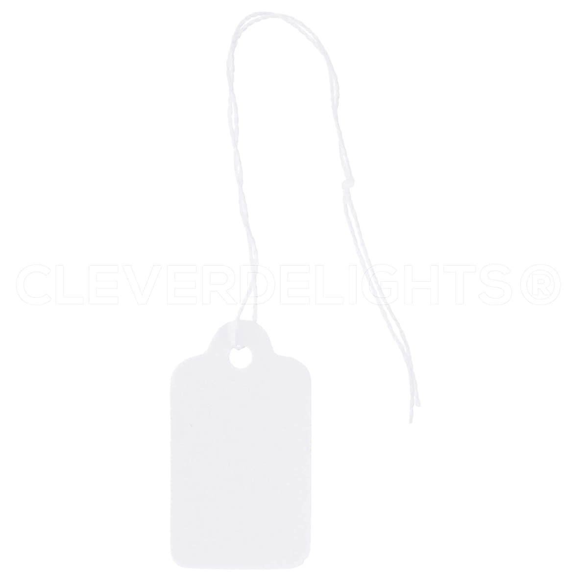 100 Pack - CleverDelights Mini Price Tags - 3/4