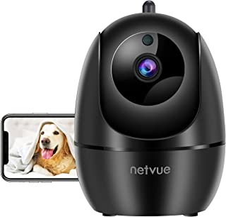 Dog Camera, Netvue 1080P Pan/Tilt/Zoom 2.4GHz WiFi Indoor Security Camera for Pets/Baby/Elders, Real-time Human Detection Alert, Cloud Storage/TF Card, 2-Way Audio & Compatible with Alexa