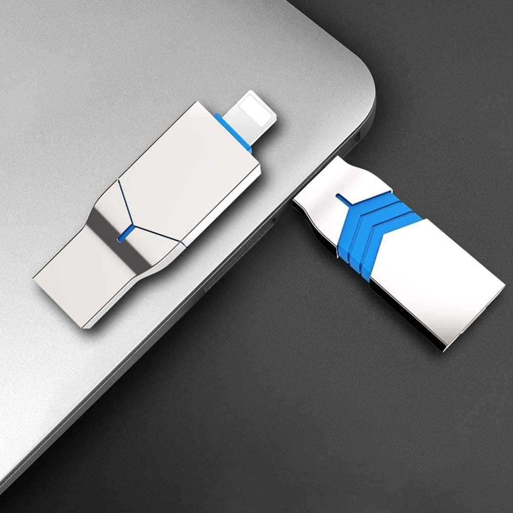 QLPP 2 in 1 USB Drives 128GB//256GB Memory Stick Flash Drive for iPhone Photo Stick External Storage USB Stick Compatible with iPhone and Computer,B,256GB