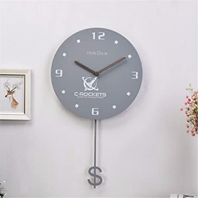 Wall Clock WERLM Simple living room antique swing clock bedroom living room bedroom mute quartz clock