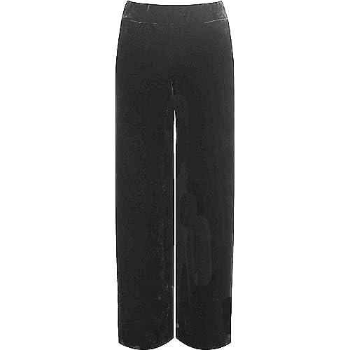 9cad95c5 F4S® Womens Plus Size Velour Velvet Wide Flared Leg Pocket Pants Ladies  Palazzo Trousers 12