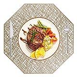 MaoXinTek Tischset, Platzsets PVC Abwaschbar rutschfest 6er Set, Hitzebeständig Vinyl Platzdeckchen für Zuhause Restaurant Küche Speisetisch (Gold)