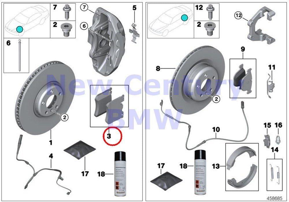 BMW Genuine Front Brake Pads 5 ☆ popular Kit 328iX Repair Rapid rise Asbestos-Free 335i