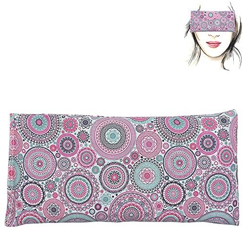 Almohada para los ojos 'Mandalas Lila'   Semillas de Lavanda y arroz   Yoga, Meditación, Relajación, descanso de ojos...