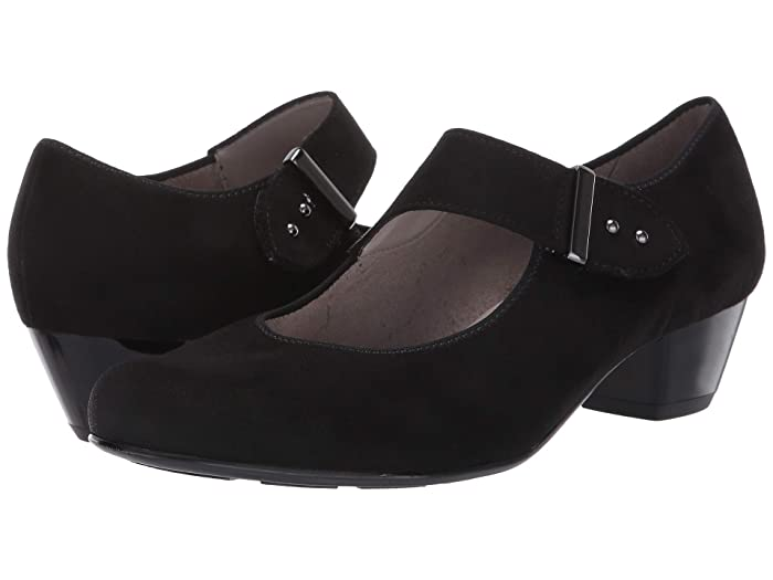 ara  Charley (Black Scala) Womens 1-2 inch heel Shoes