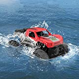 Cradream Amphibious Remote Control Truck Waterproof RC Car 4WD 2.4 GHz Off Road Rock Crawler Remote Control For 40+mins with 2 Rechargeable Batteries Gift for Adults and Kids