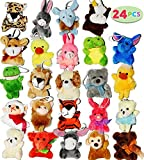 JOYIN 24PCS Mini Animal Jouet en Peluche 3'/ 7.6cm Plush Toy Mignon Remplissage de Sacs de Party Charmant Cadeau de Fête pour Enfant