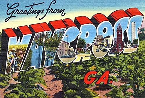 Greetings from Waycross Georgia Cheap mail order specialty store - Vintage Pos 1930's Arlington Mall Postcard