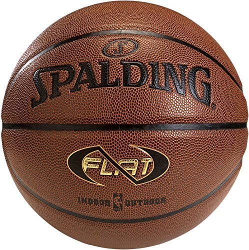 Spalding Unisex-Adult Ball Neverflat In/Out 74-764Z Basketball, orange, 7