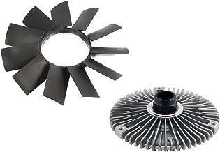 MTC Engine Radiator Cooling Fan Blade and Fan Clutch Kit for BMW E32 E34 E39 E36 E46 Z3 E53 | 11-52-1-712-058 | 11-52-7-505-302