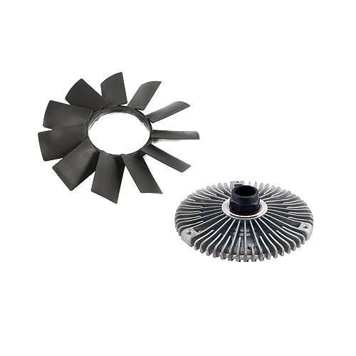 MTC Engine Radiator Cooling Fan Blade and Fan Clutch Kit for BMW E32 E34 E39 E36