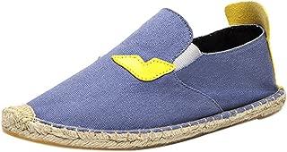 qzunique Women's Qz Canvas Slip On Shoes Loafers Casual Flats Sneakers 9.5 B(M) US Blue
