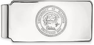 Solid 925 Sterling Silver Official University of Notre Dame Slim Business Credit Card Holder Money Clip 53mm x 24mm