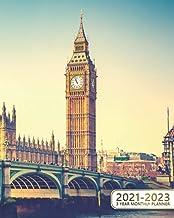 3 Year Monthly Planner 2021-2023: Amazing Sunny London Three Year Organizer & Schedule Agenda - 36 Month Motivational Cale...