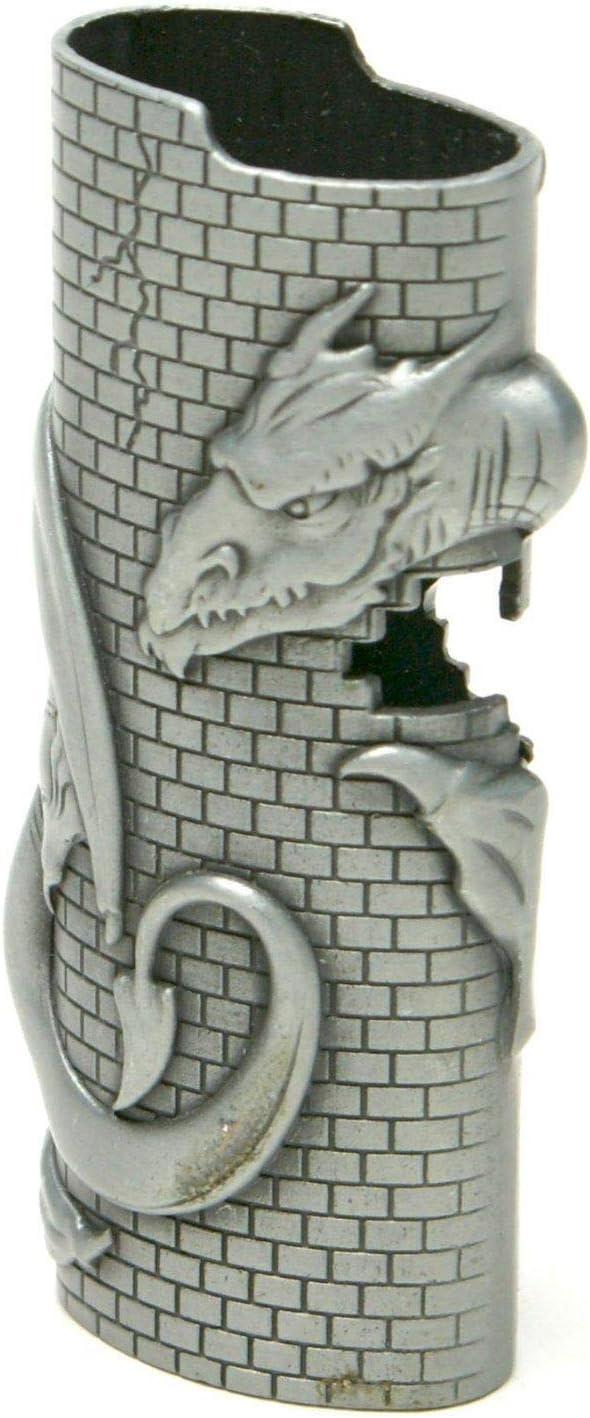 Metal Lighter Case for Long Beach Mall Dragon Wall Oklahoma City Mall Bic
