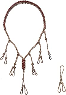 IUNIO Duck Call Lanyard Secures 5 Calls and Dog Whistle Military Grade 550 Paracord Hand Braided Adjustable Loops with an Extra Loop