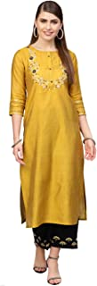 Varanga Women's art silk straight Salwar Suit Set