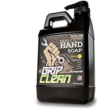 Grip Clean | Waterless Hand Cleaner for Auto Mechanic Grease & Paint Removing - Ultra Heavy Duty Pumice Soap, Dirt Infused