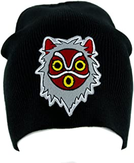 Princess Mononoke San Wolf Mask Beanie Knit Cap Alternative Clothing Anime Black
