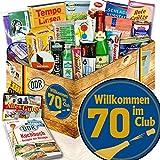 Wilkommen im Club 70 / Geschenke zum 70. Geburtstag / DDR Spezialitäten Box