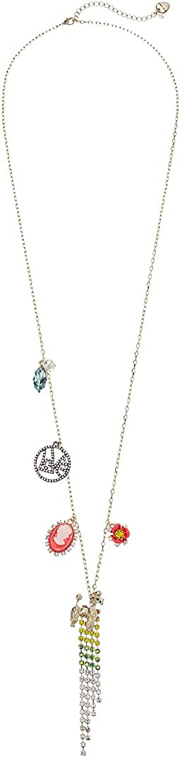 Betsey Johnson - Multi Long Pendant Necklace