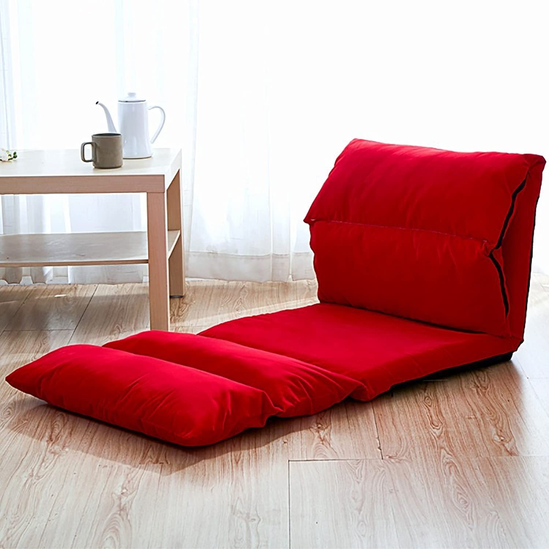 Comfortable Sofa, Lazy Sofa Foldable Single Rectangle Backrest Sofa (color   18 )