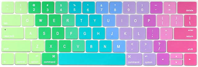 Batianda Ultra Thin Gradient Color Keyboard Cover Protector for New Apple MacBook Pro with Touch Bar 13 inch or 15 inch Model:A1706/A1989/A2159 & A1707/A1990 Release 2019 2018 2017 2016 (Rainbow)