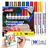 Porzellanstifte spülmaschinenfest 10 Farben mit Gold und Silber